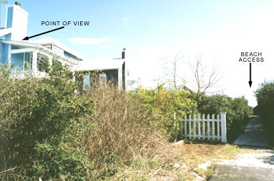 Beach access at Point of View vacation rental